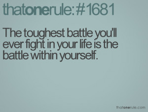 Battle with Yourself Quotes