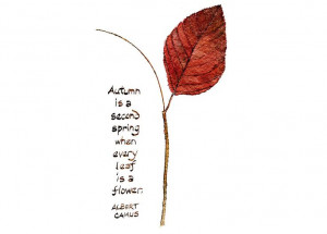 Autumn Leaf and Quote Watercolor Painting - Art Print, Autumn Leaves ...