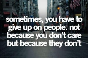 Sometimes you gotta let go