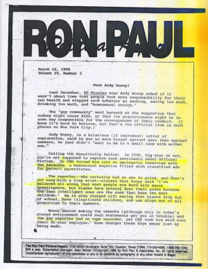 The Racist Quotes from Ron Paul's Newsletter