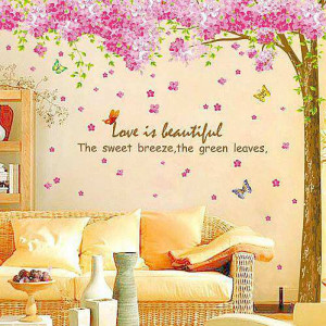 pink cherry blossom flower tree wall stickers € 16 95 pink cherry ...