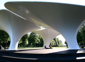 Zaha Hadid architectural tensile fabric sculpture by Base Structures