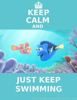 Just Keep Swimming is what my lovely friend Kim says to me when she ...
