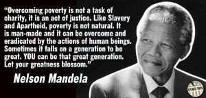 Overcoming Poverty – Nelson Mandela