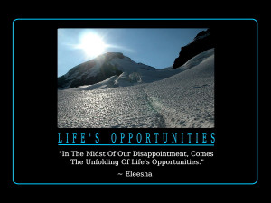 Life's Opportunities Quotes and Affirmations by Eleesha [www.eleesha ...