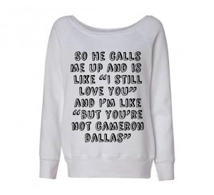 Cameron Dallas So He Calls Me Up Oversized Sweatshirt Sweater Jumper ...