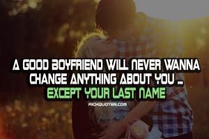 Love Quotes | A Good Boyfriend
