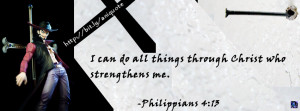 Philippians 4:13 with One Piece Character