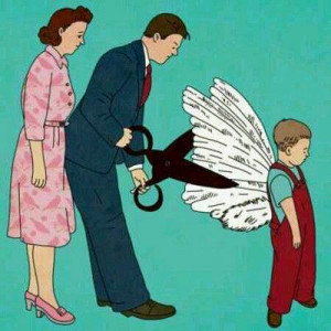 你们当初剪下了我的翅膀,现在却要我飞翔。