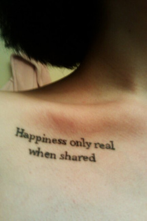 fuckyeahtattoos:my Into the Wild inspired quote tattoo