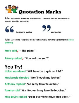 How to write a direct quote