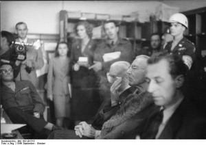 Hjalmar Schacht and Franz von Papen during the Nuremberg Trials, Sep ...