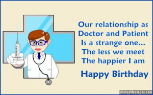 Birthday wishes for doctors