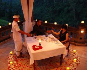Romantic Candle Light Dinner Photo