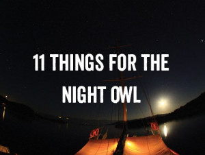 Nighttime Traveling Experiences