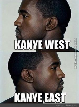 Funny Picture - Kanye west kanye east