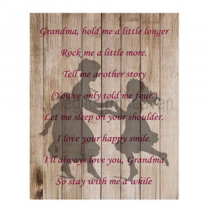 Grandma Quotes From Granddaughter Grandma quote print granddaughter ...