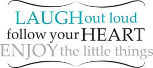 Laugh Out Loud Wall Quote Decals contemporary-wall-decals