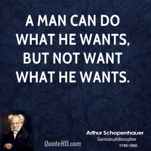 man can do what he wants, but not want what he wants.