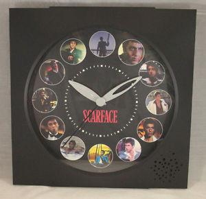 Talking-Scarface-Tony-Montana-Wall-Clock-Movie-Quotes-11-x11