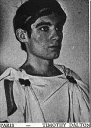 Timothy Dalton as Paris in a U K Grammar School