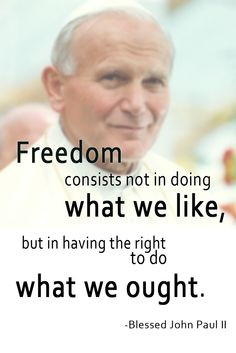 ... to do what we ought.