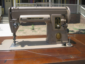 Pictures of the machines are from when we just got them. Singer 301 ...