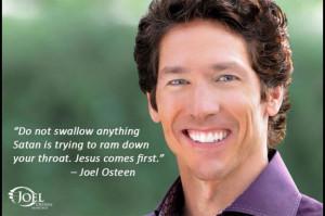 Jesus comes first… – Joel Osteen wat?