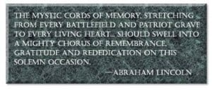 Memorial Day Quote from the Great American President Abraham Lincoln ...