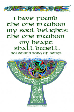 lettered Solomon's ancient quote in tenth century Celtic, and added ...