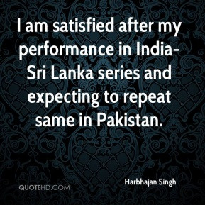 Harbhajan Singh - I am satisfied after my performance in India-Sri ...
