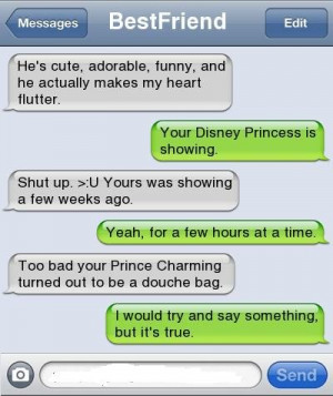 best friends, conversations, princesses, true