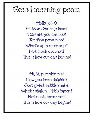 Funny Morning Poems...