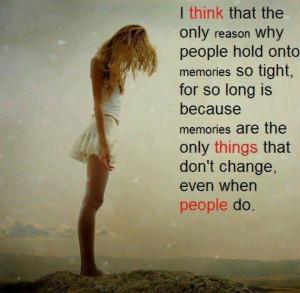 Holding onto memories...