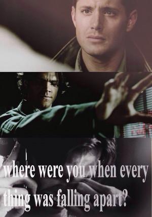 Supernatural Quote / Sam / Dean