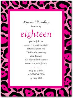 Teen Birthday Party Invitations