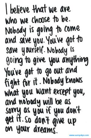 quotes about yoru dreams life