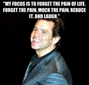 Jim Carrey's focus in comedy