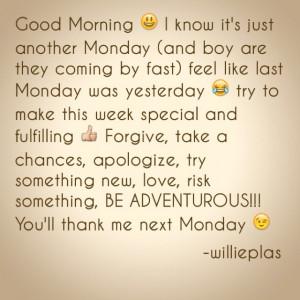 Good Morning, Monday Challenge ;)