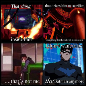 ... in Justice League. It made me think of this quote from Young Justice