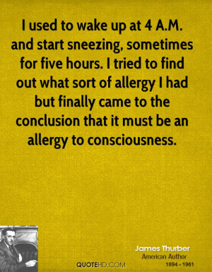 ... allergy I had but finally came to the conclusion that it must be an