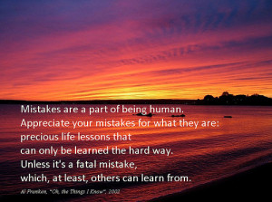... Of Mistakes Are A Part Of Being Human Appreciate Your Mistake Design