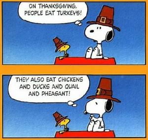 On Thanksgiving: Thank Goodness We're Not Turkeys
