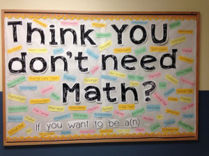 middle school Math Bulletin Boards   Middle School Math Bulletin Board ...