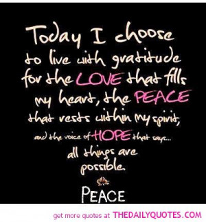 Peace And Love Quotes And Sayings