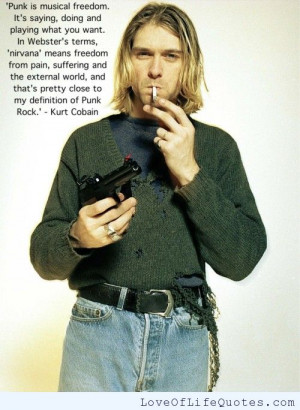 kurt cobain quote on wanting to be someone else kurt cobain quote ...
