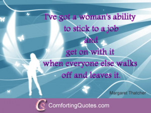 Confidence Quote for Women by Margaret Thatcher