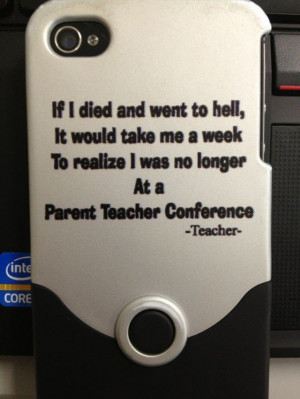 Parent-teacher conference humor