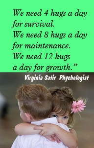 quote~ healing effects of hugs