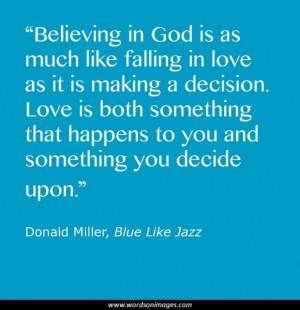 Blue like jazz quotes